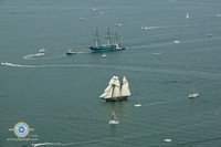 USS Constellation and Pride of Baltimore II Share the Water