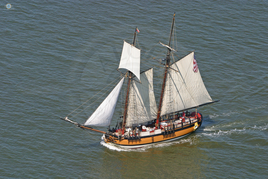 The schooner Sultana sailing on the Chester River in Kent County, Maryland